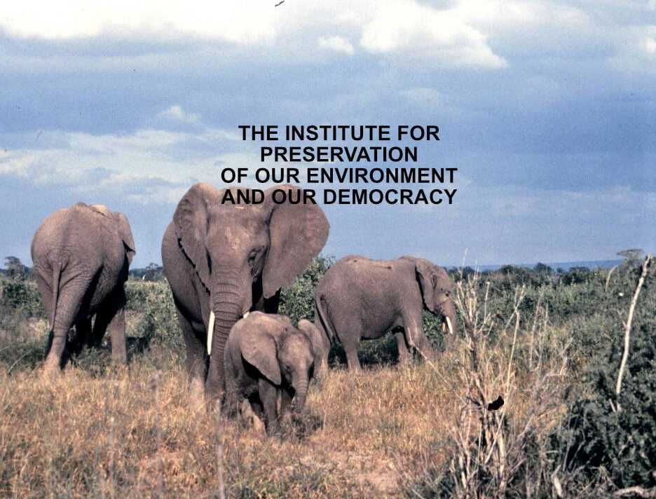 THE INSTITUTE FOR PRESERVATION OF OUR ENVIRONMENT AND OUR DEMOCRACY